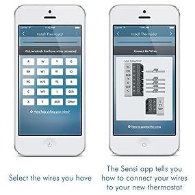 sensi smart thermostat wi fi up500w works amazon alexa view larger