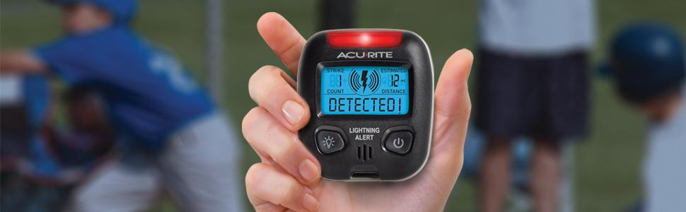 Acurite 02020 Lightning Detector Weather Device Portable Storm Detector Alarm Ebay