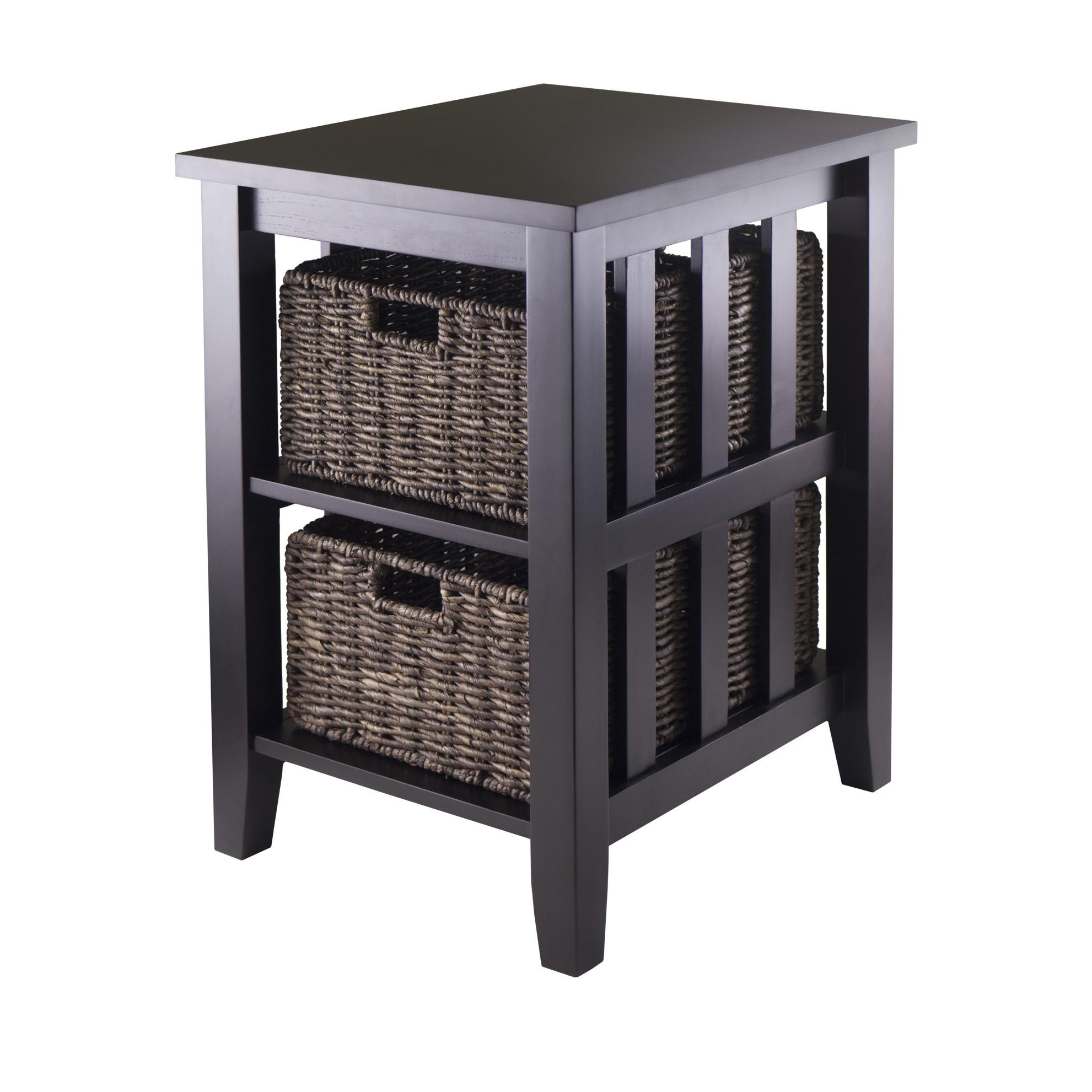 Amazon Winsome Morris Side Table with 2 Foldable Basket