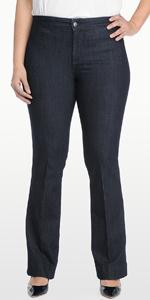 NYDJ Women's Plus-Size Isabella Trouser Jean at Amazon Women's ...