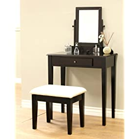Contemporary Vanity Set With Mirror Dimensions