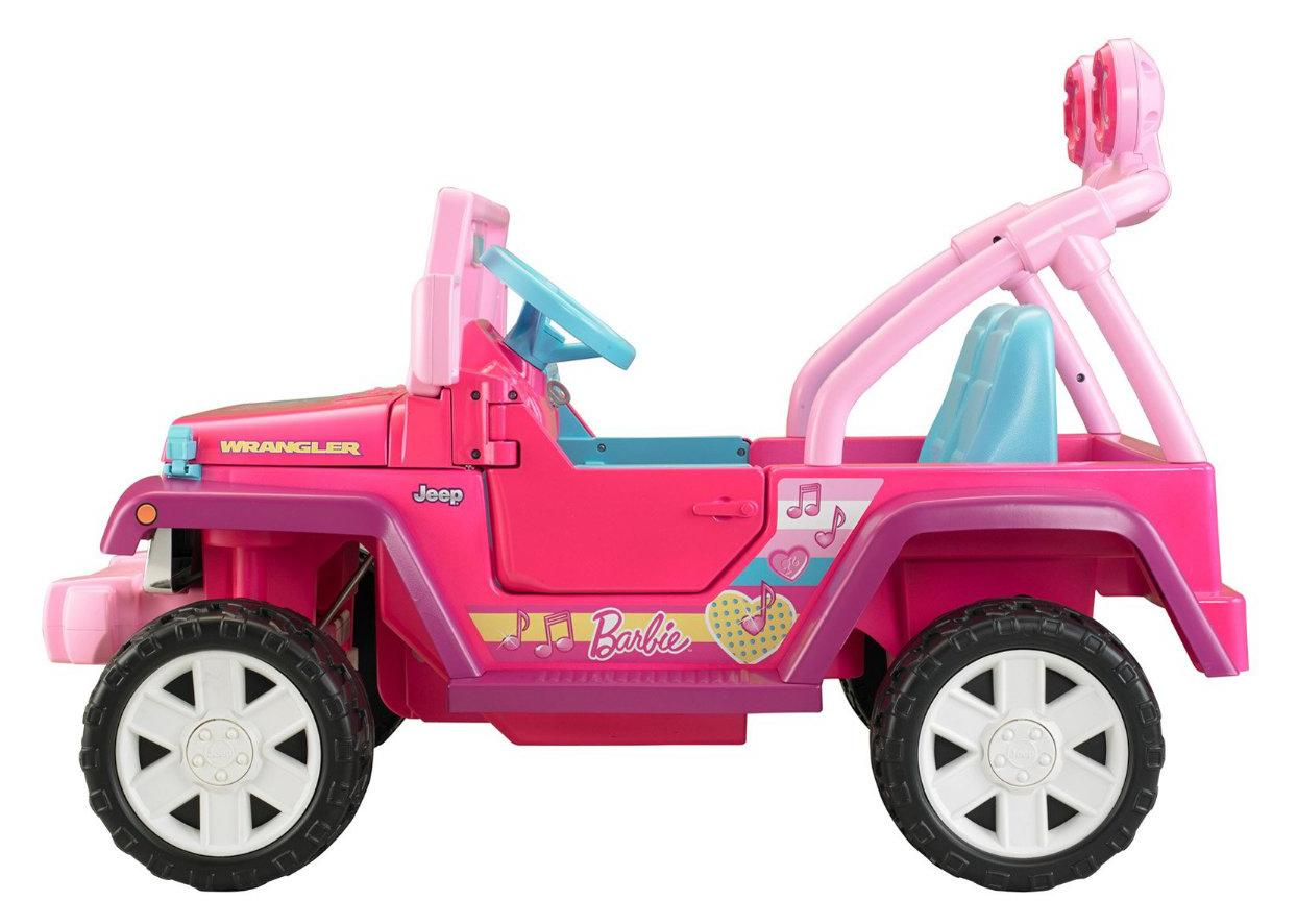 Amazon.com: Power Wheels Barbie Jammin' Jeep Wrangler: Toys & Games
