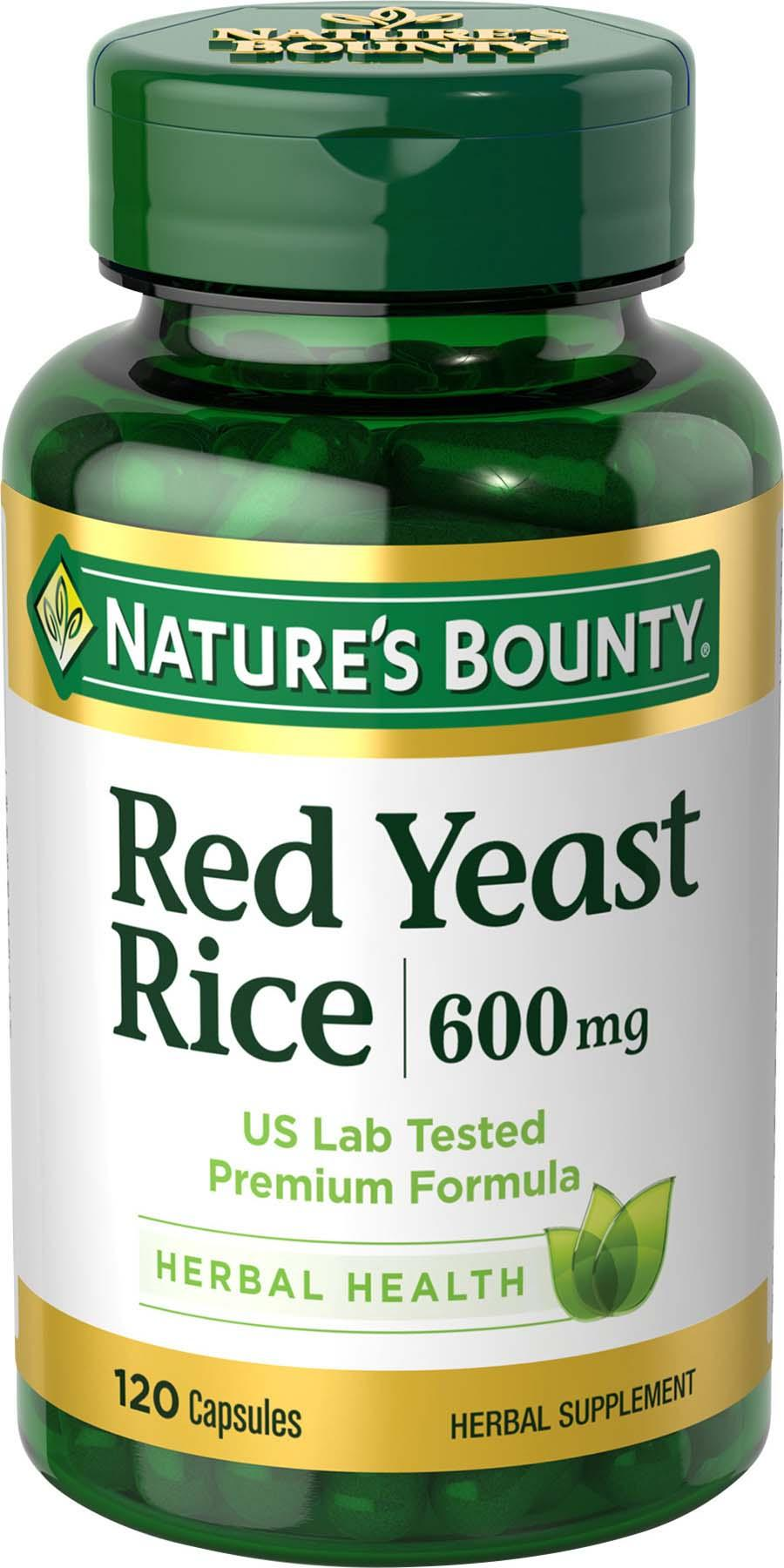 Amazon.com: Nature's Bounty Red Yeast Rice 600 mg, 120