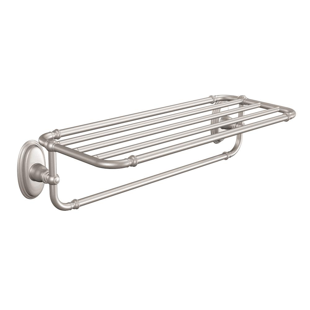 Moen YB5494BN Kingsley Bathroom Towel Shelf, Brushed Nickel ...
