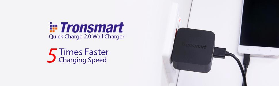 Tronsmart Qualcomm Official Certified Quick Charge 2.0 Wall Charger