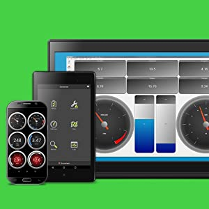 OBDLink LX Bluetooth comes with a free Android app and PC software