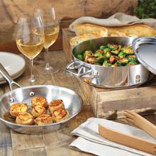 stainless steel tri ply clad cookware