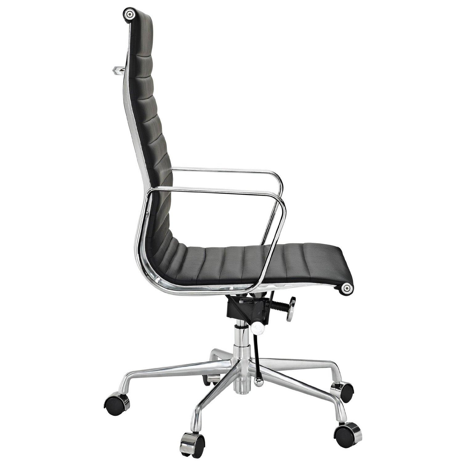 Amazon.com: Modway Ribbed High Back Office Chair in White Genuine ...