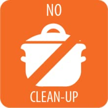 no dishes required making clean-up a breeze