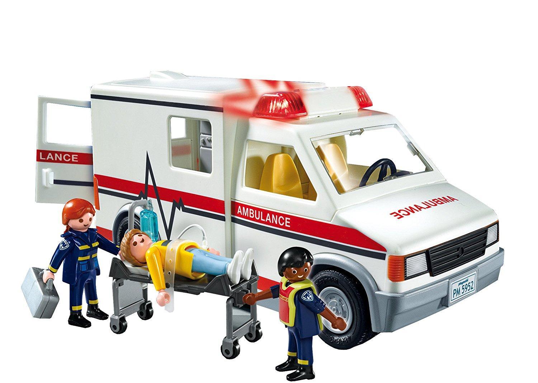 Amazon.com: PLAYMOBIL Rescue Ambulance Playset: Toys & Games