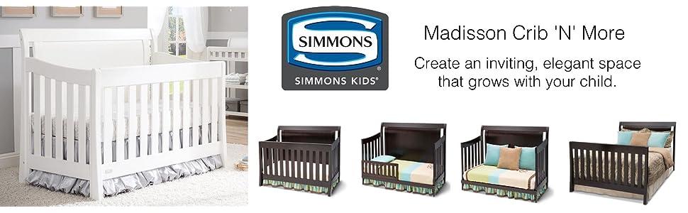 Amazon. Com: simmons kids slumbertime madisson crib 'n' more: baby.