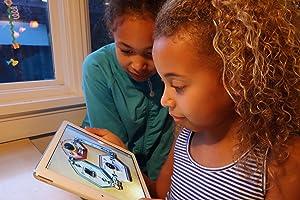Kids using LightUp Learning app