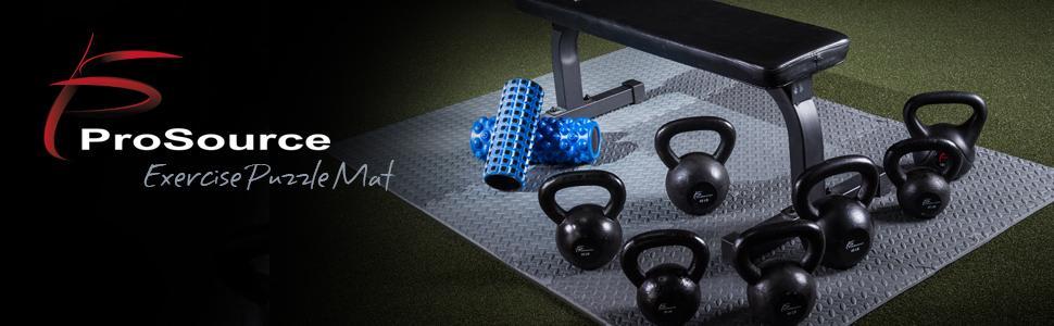 ProSource Exercise Puzzle Mat, Interlocking Foam Mats, Foam Tiles, Eva Foam  Mats,