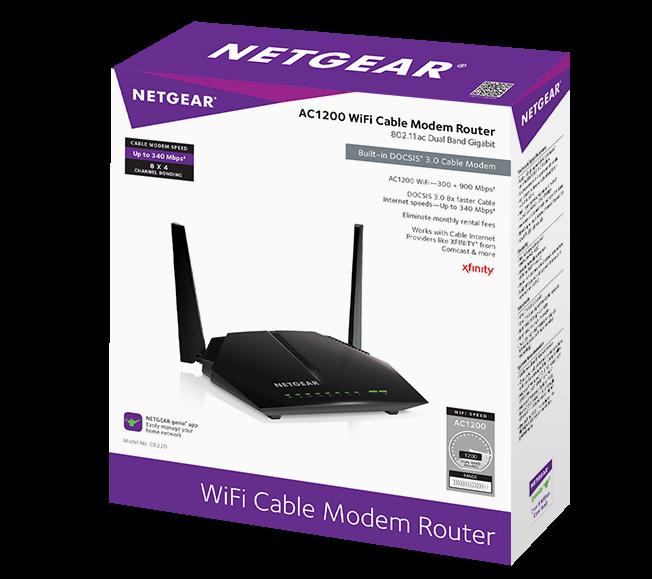 Amazon Com Netgear C6220 100nas Ac1200 8x4 Wifi Docsis