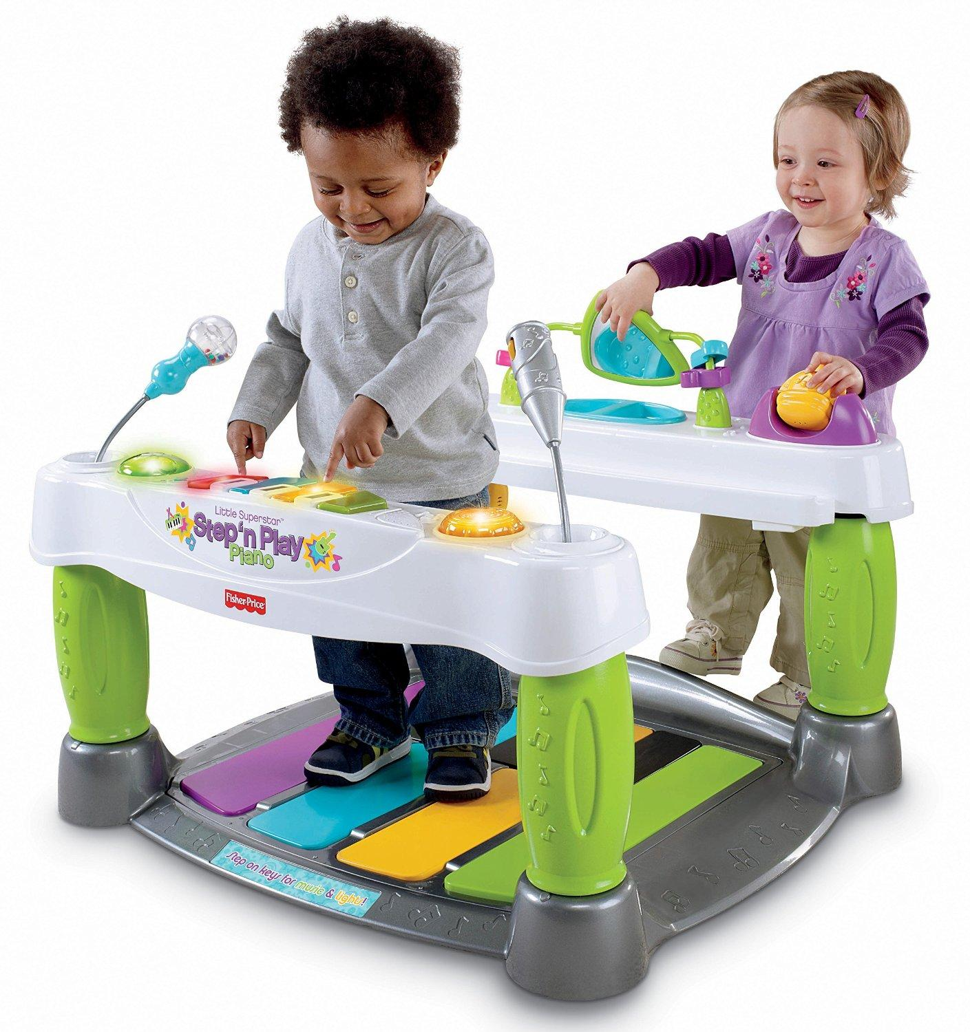 a4aeb49fa31d Amazon.com  Fisher-Price Little Superstar Step  n Play Piano  Health ...