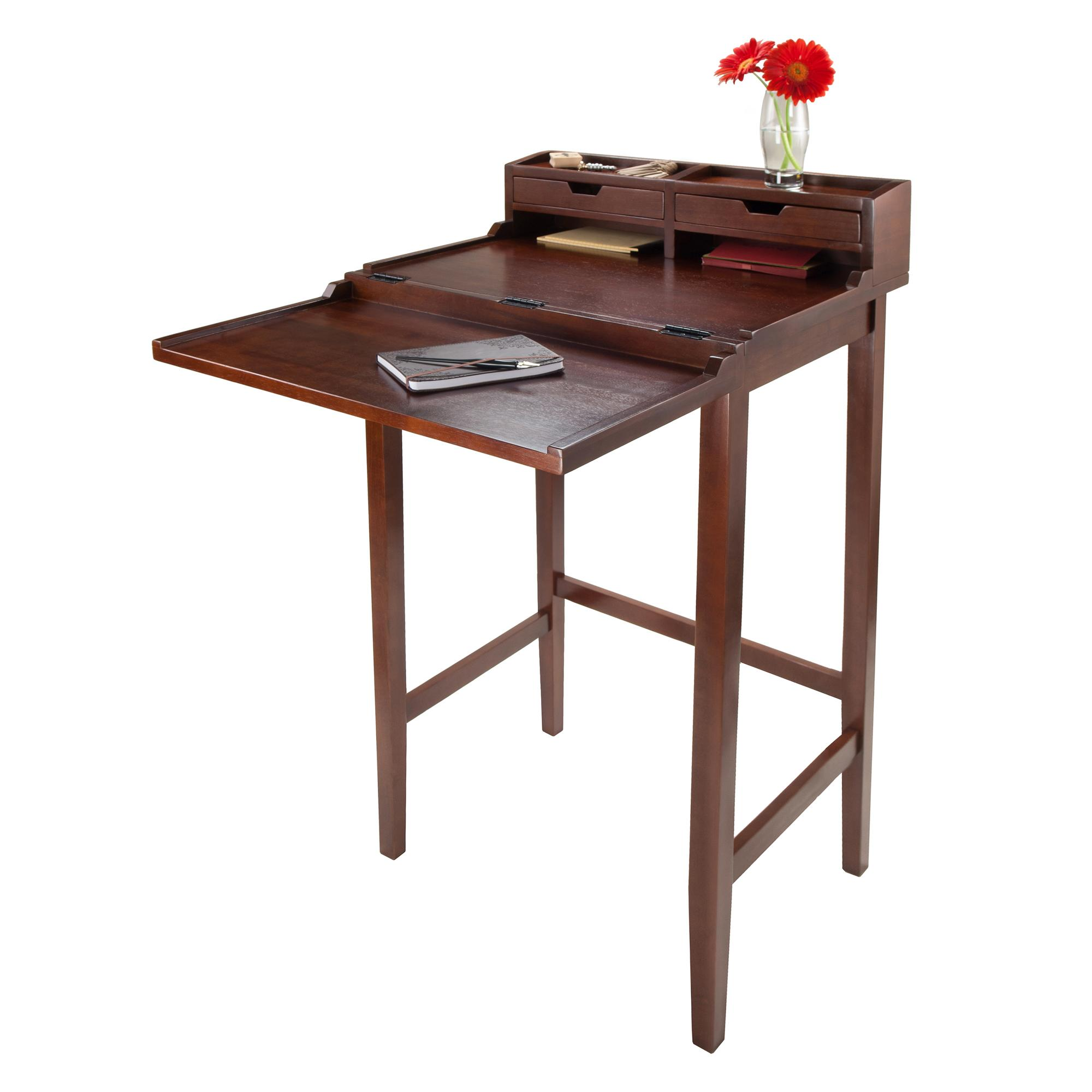 and odh hutch shaped hooker desk l with cabinet wayside latitude walnut shape drawers furniture rolling filing set desks collections item