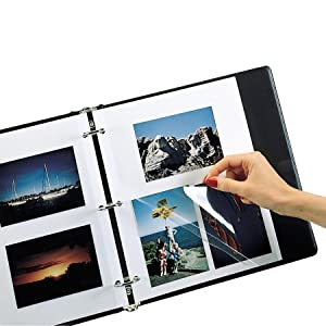 Redi-Mount Photo Sheets easily mount your photos in albums