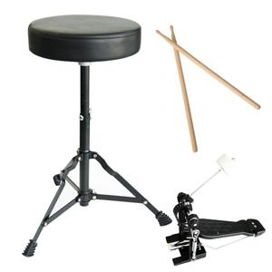 mendini by cecilio complete full size 5 piece adult drum set with cymbals pedal. Black Bedroom Furniture Sets. Home Design Ideas