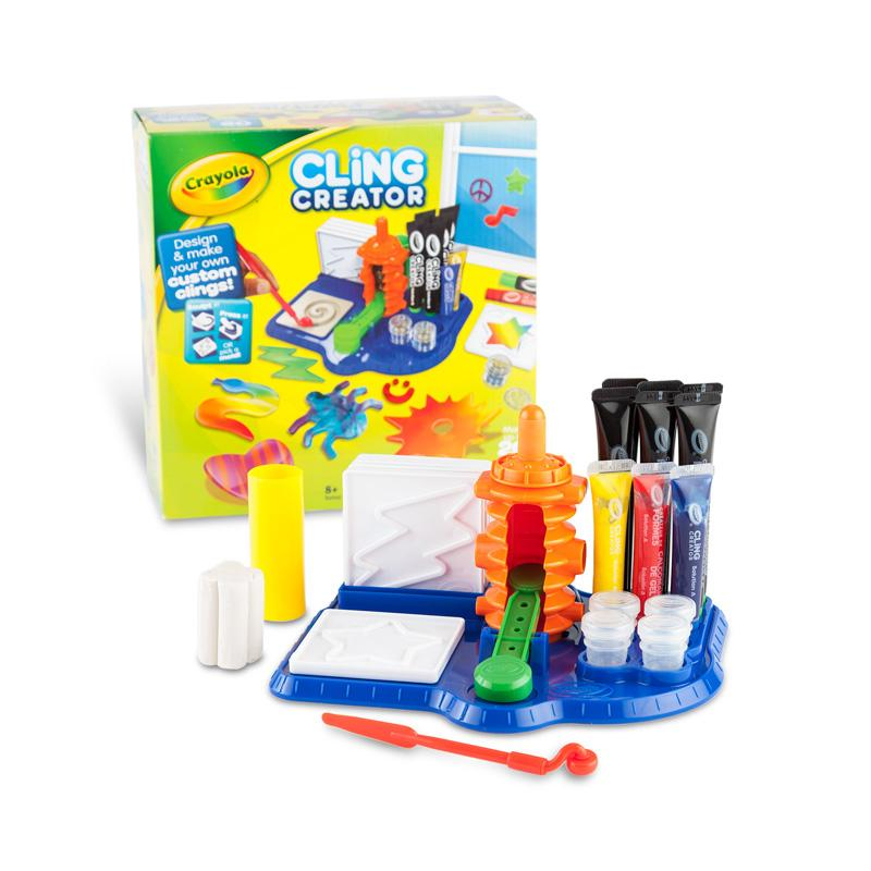 amazon com crayola cling creator art activity make up to 20