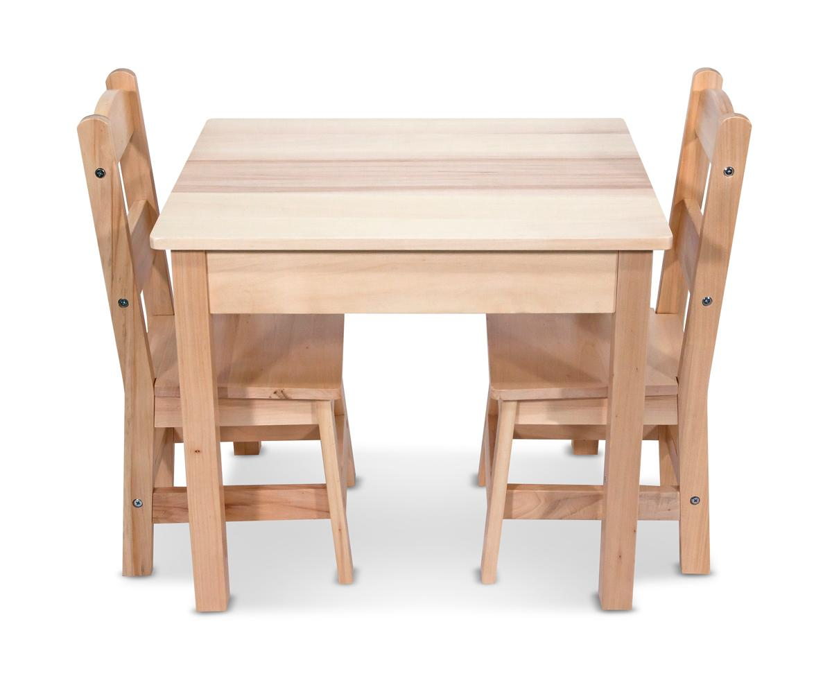 melissa doug wooden table and 2 chairs set melissa doug toys games. Black Bedroom Furniture Sets. Home Design Ideas