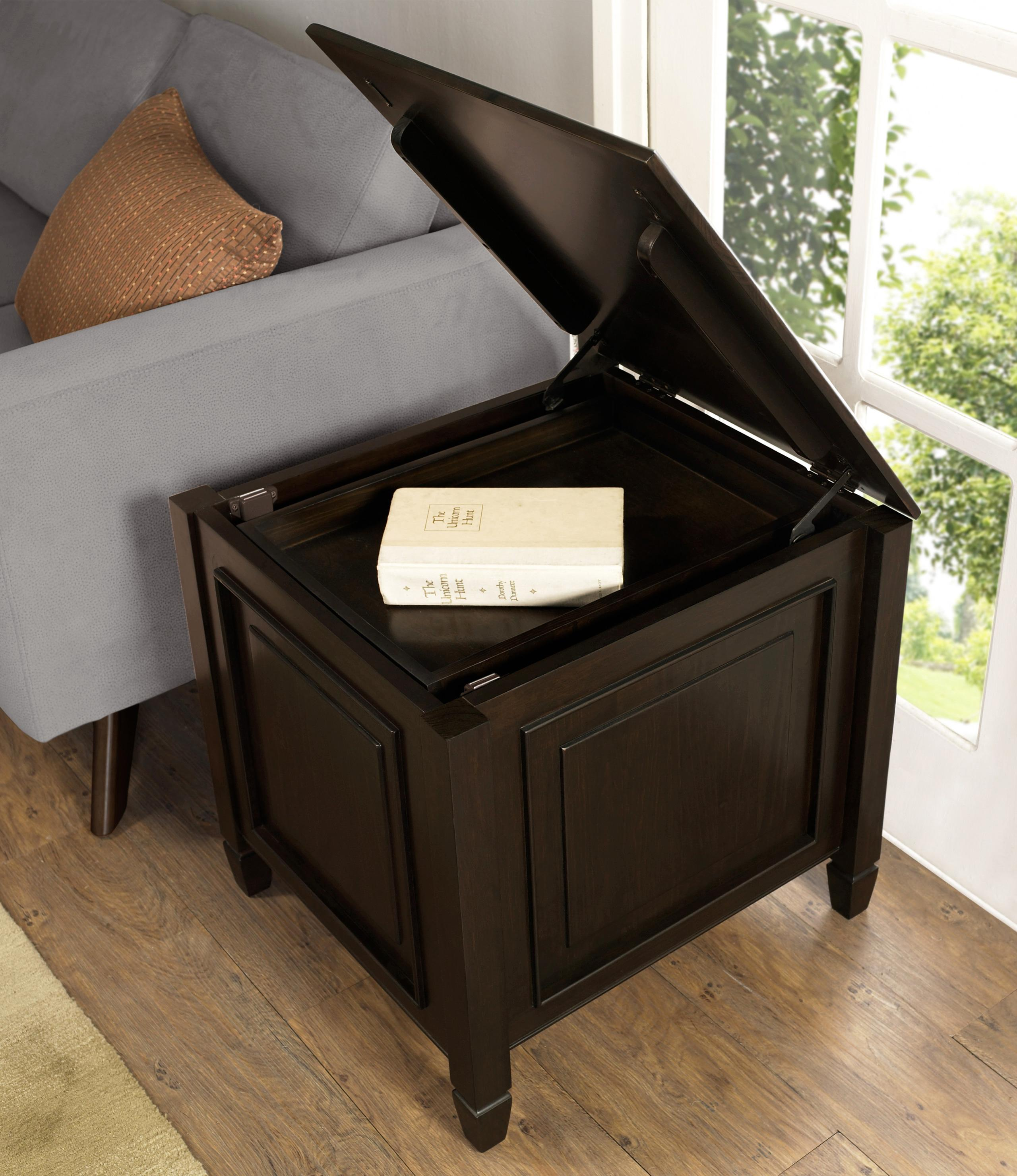 Amazon.com: Simpli Home Connaught Side End Table with Tray