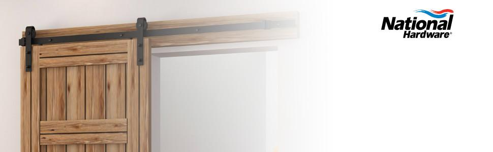 national hardware presents decorative interior sliding door hardware in oil rubbed bronze