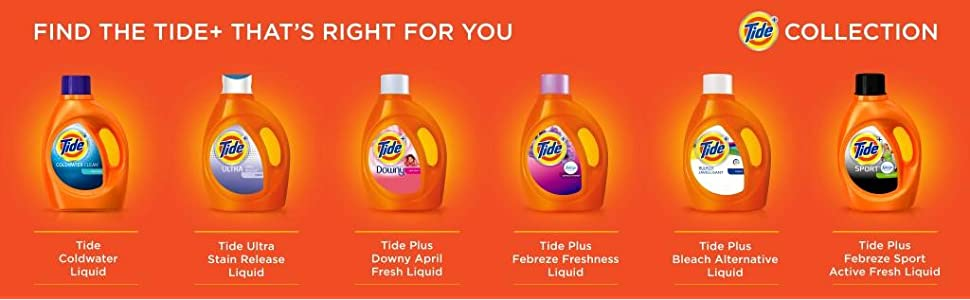 Tide Free and Gentle Liquid Laundry Detergent, plus collection
