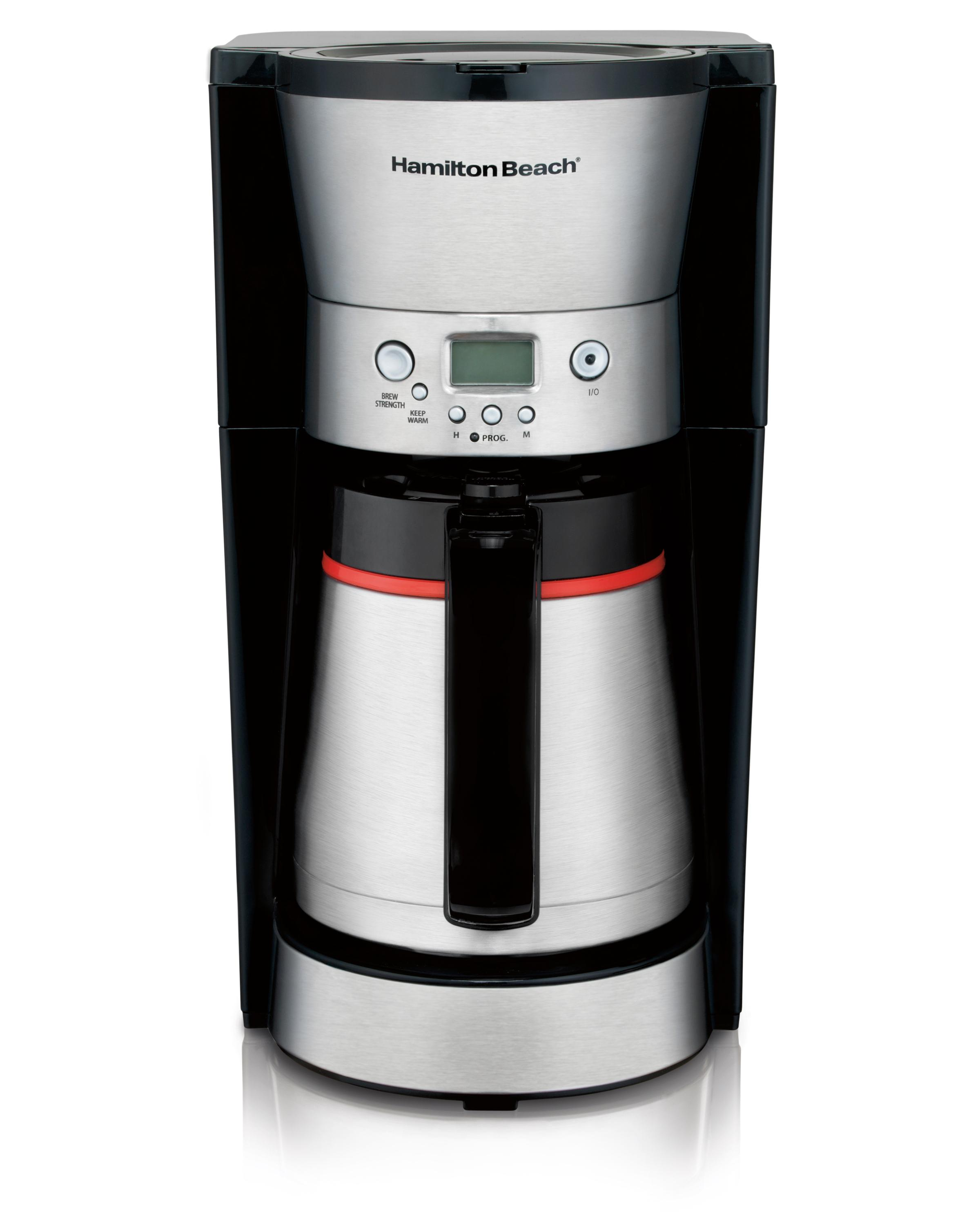 Coffee Maker With Thermal Carafe And Hot Water : Amazon.com: Hamilton Beach 46896A 10 Cup Coffee Maker with Vacuum Stainless Thermal Carafe ...