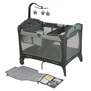 Playard with Storage, Built Right Into Changing Pad