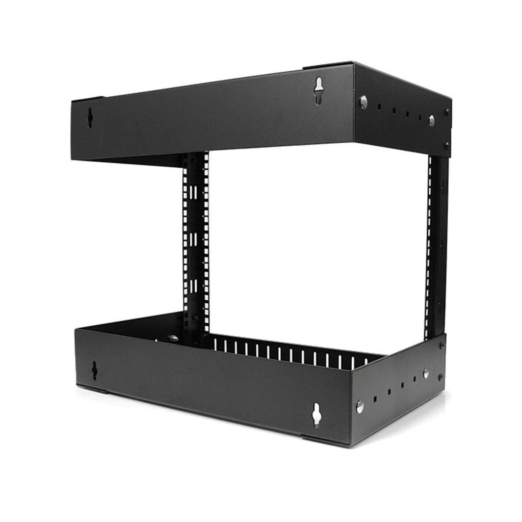 Amazon Com 8u Open Frame Wall Mount Equipment Rack