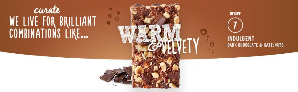 Curate Gluten-Free Snack Bars, Indulgent Dark Chocolate & Hazelnuts, 1 ...