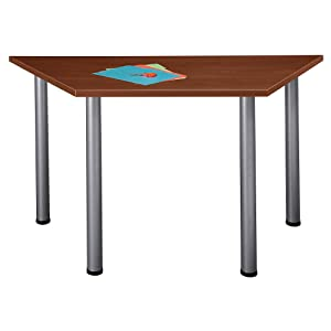 Amazoncom Bush Business Furniture Aspen W X D Trapezoid Table - Trapezoid conference table