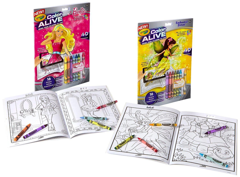 color alive barbie enchanted forest - Color Alive Coloring Book
