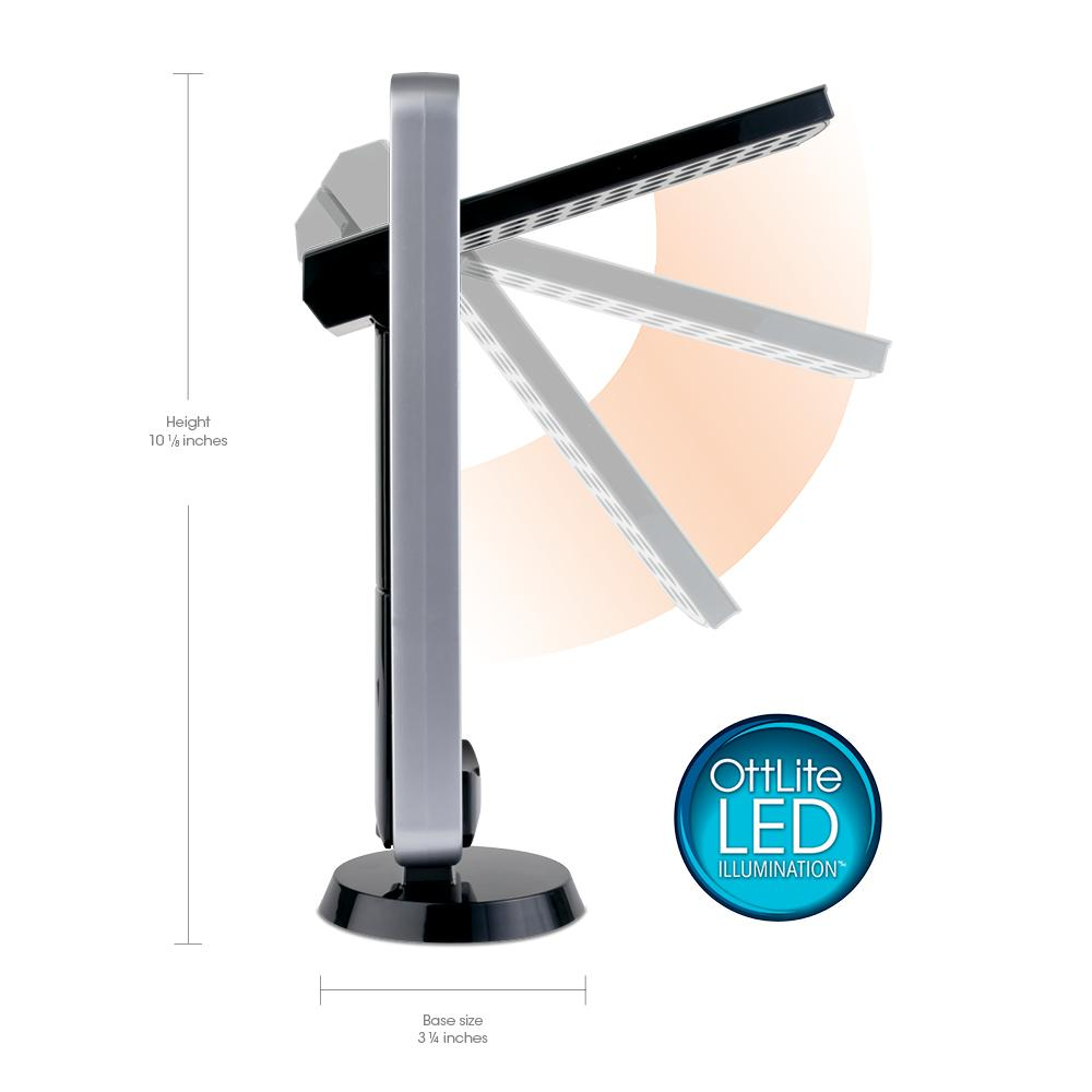 ottlite 290g59 battery operated led mobile task lamp black desk lamps. Black Bedroom Furniture Sets. Home Design Ideas