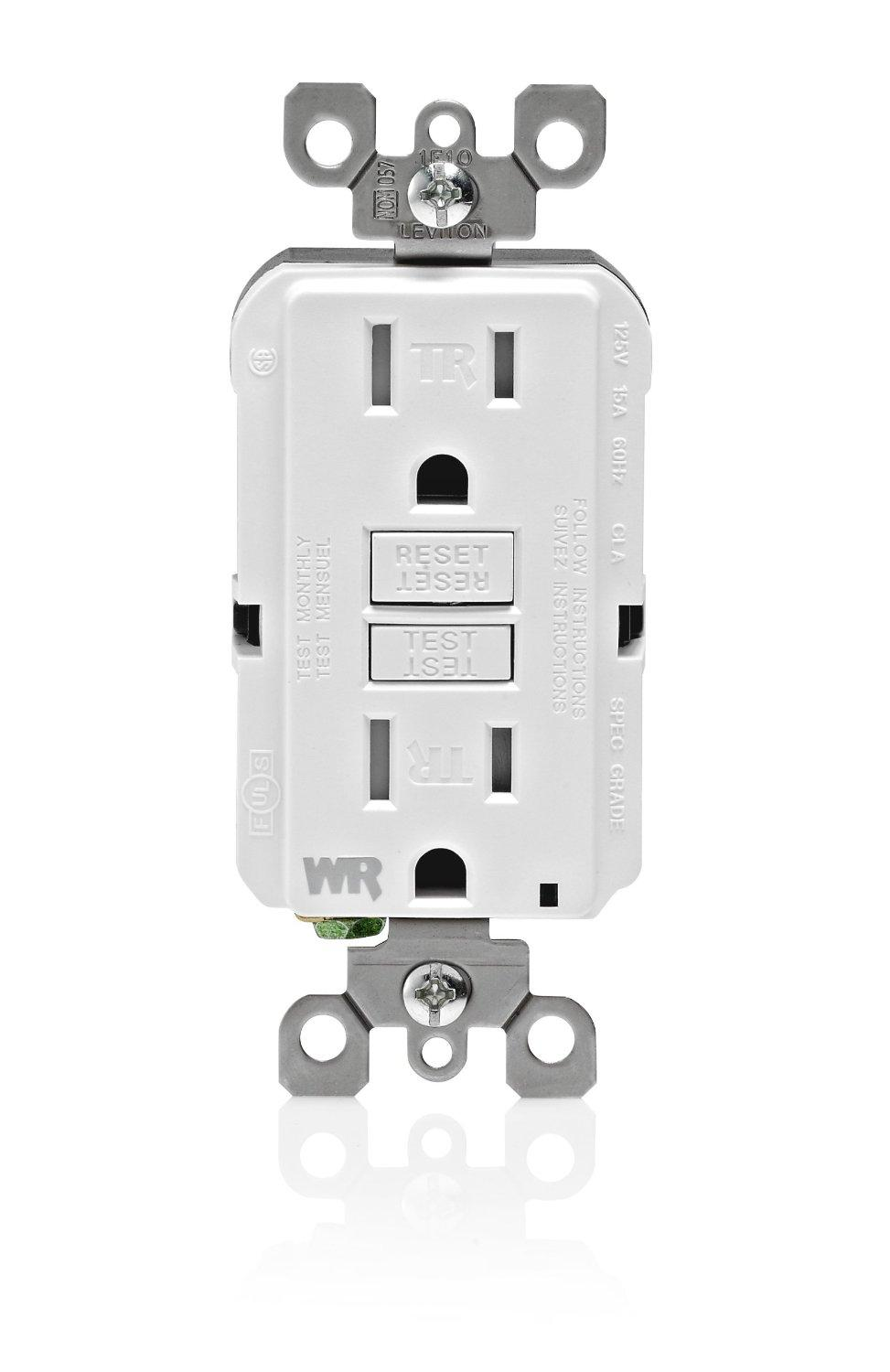 Leviton Gfwt1 W Self Test Smartlockpro Slim Gfci Weather Resistant How To Hook Up A Gfi Outlet From The Manufacturer