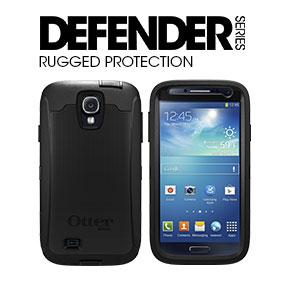 OtterBox Defender Series Case for Samsung Galaxy S4 Active (Not Regular S4) - Retail Packaging - White