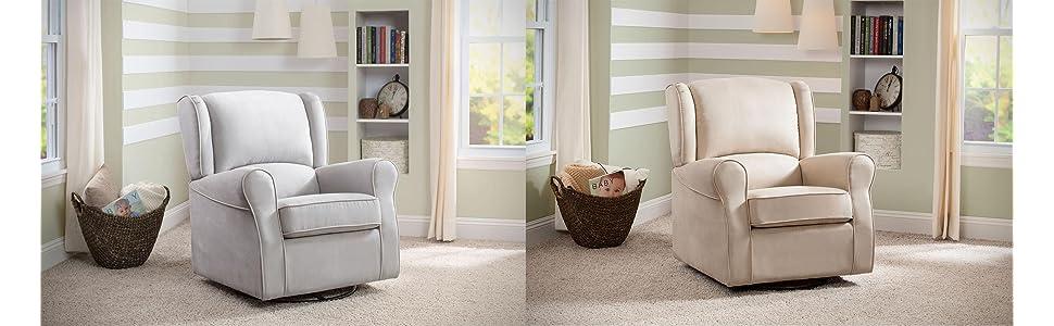 morgan, glider, rocker, nursery, furniture, comfy, upholstered, plush, microfiber, baby, registry