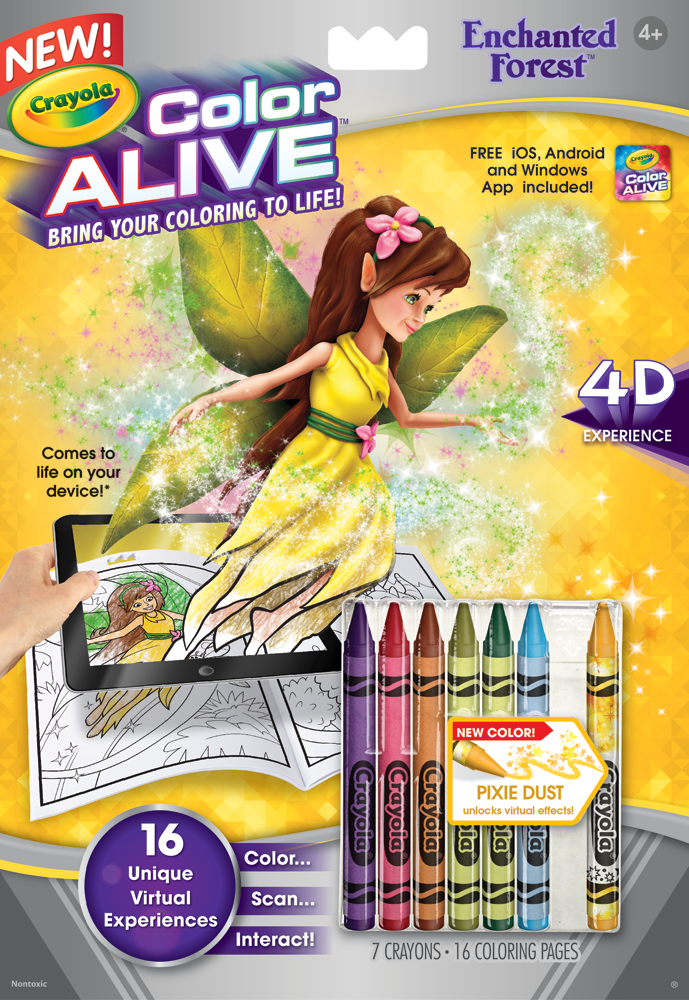 crayola color alive action coloring pages enchanted forest toys games