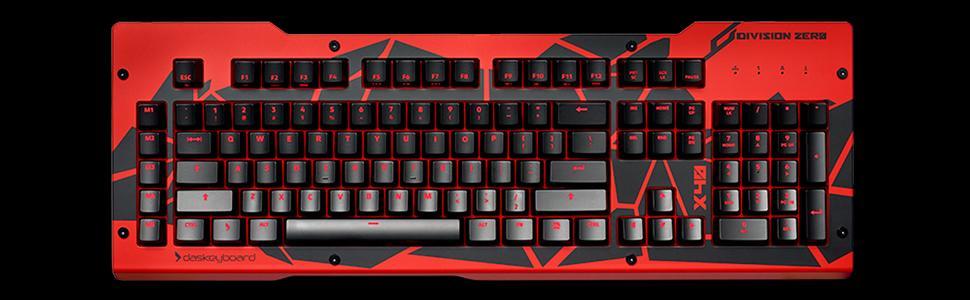 d2ae8abdc08 Das Keyboard, Division Zero, X40 Mechanical Keyboard, Gaming, Aluminum Top  Panel,