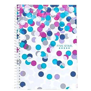 Five Star, wirebound notebook, spiral notebook, 2 subject notebook, notebook with dividers