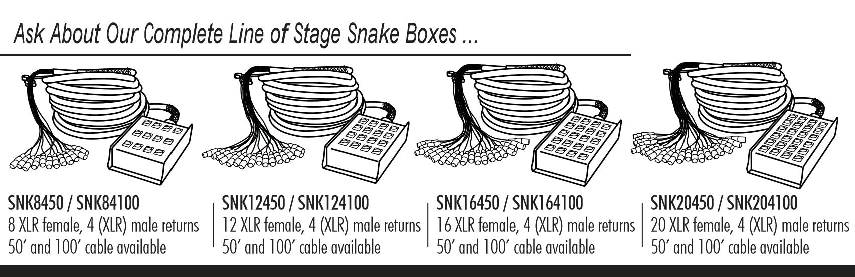 Amazon Com In Line Audio 24 Channel Audio Snake 100 Feet