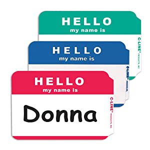 C-Line HELLO my name is Badges