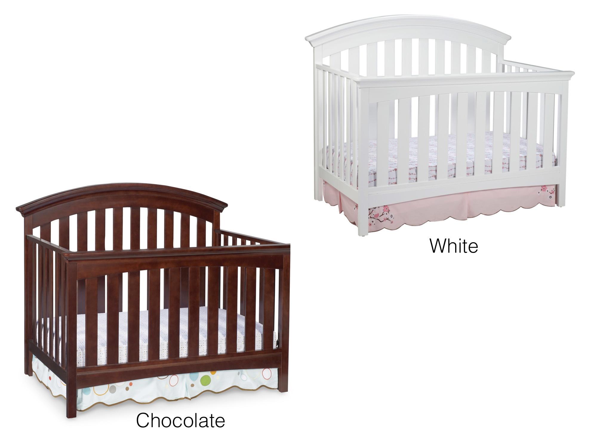 delta children bentley 4 in 1 crib white baby. Black Bedroom Furniture Sets. Home Design Ideas