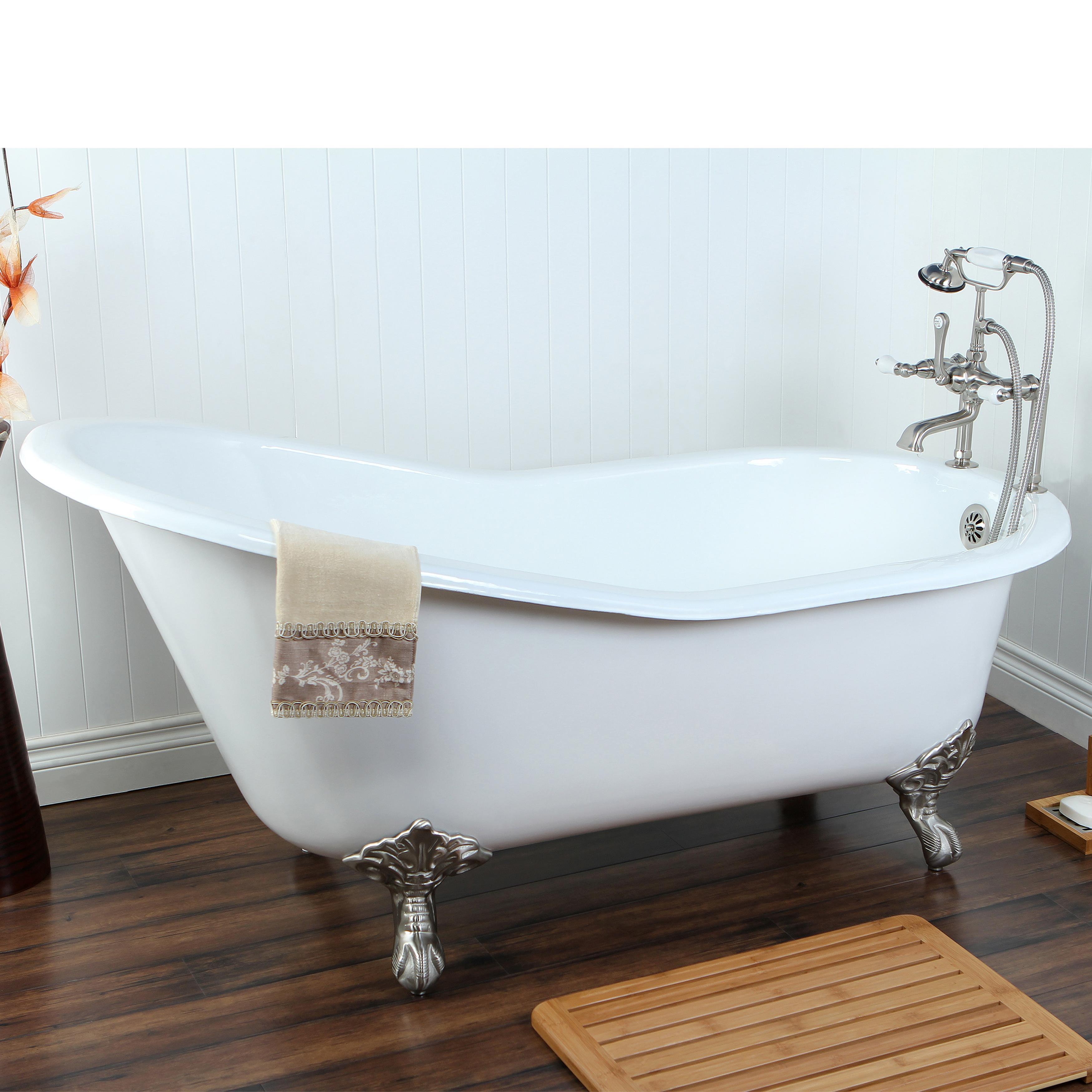 double slipper 6 ft cast iron clawfoot bathtub