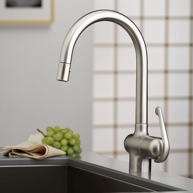 Ladylux pro dual spray pull down touch on kitchen sink faucets - Grohe kitchen faucets amazon ...