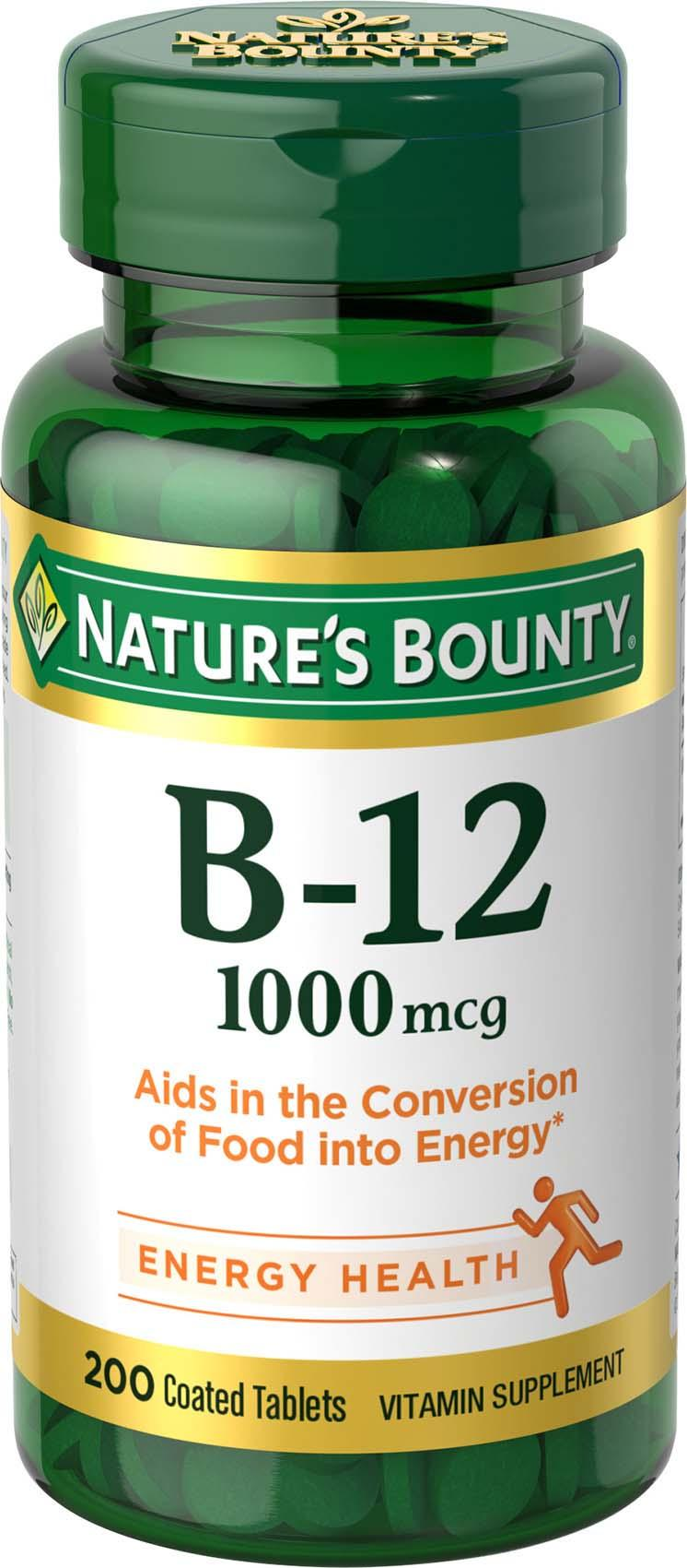 nature 39 s bounty vitamin b 12 1000 mcg 200 coated tablets vitamin supplement. Black Bedroom Furniture Sets. Home Design Ideas