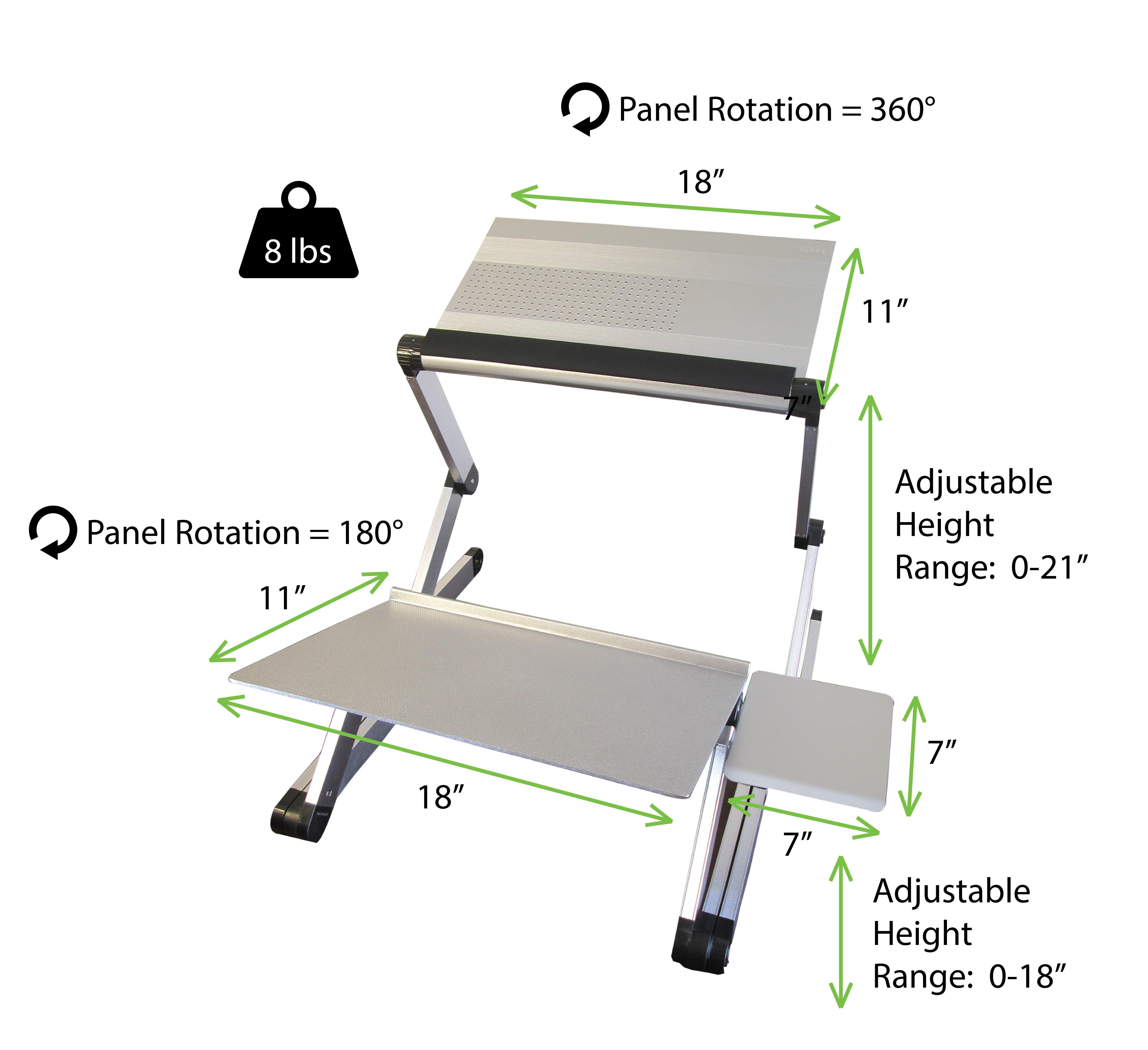 how to set up a standing desk ergonomics