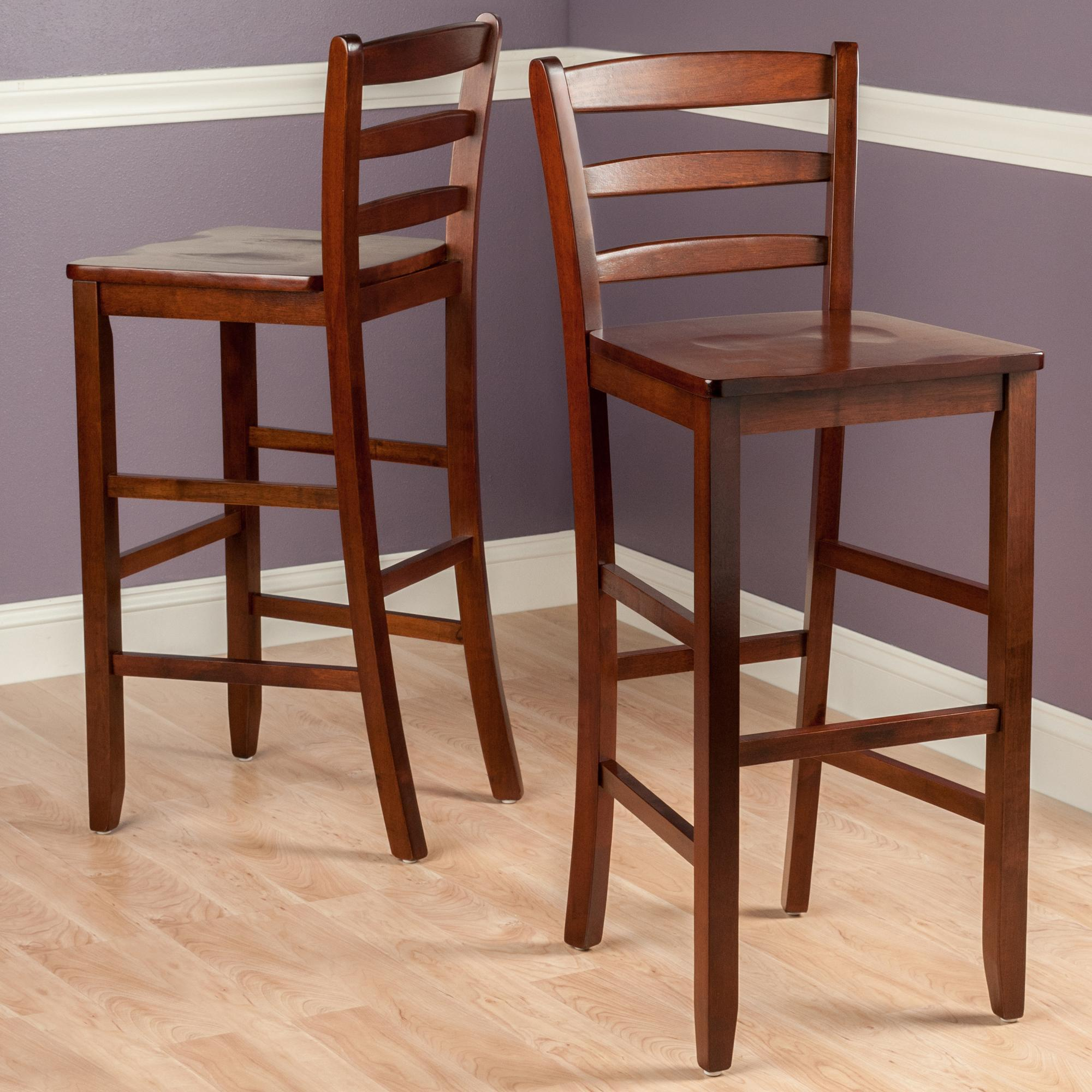 Amazon Winsome 29 Inch Bar Ladder Back Stool Set of 2
