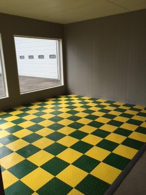 Speedway Interlocking Garage Flooring 6 Lock Diamond Tile Black 25 Pack