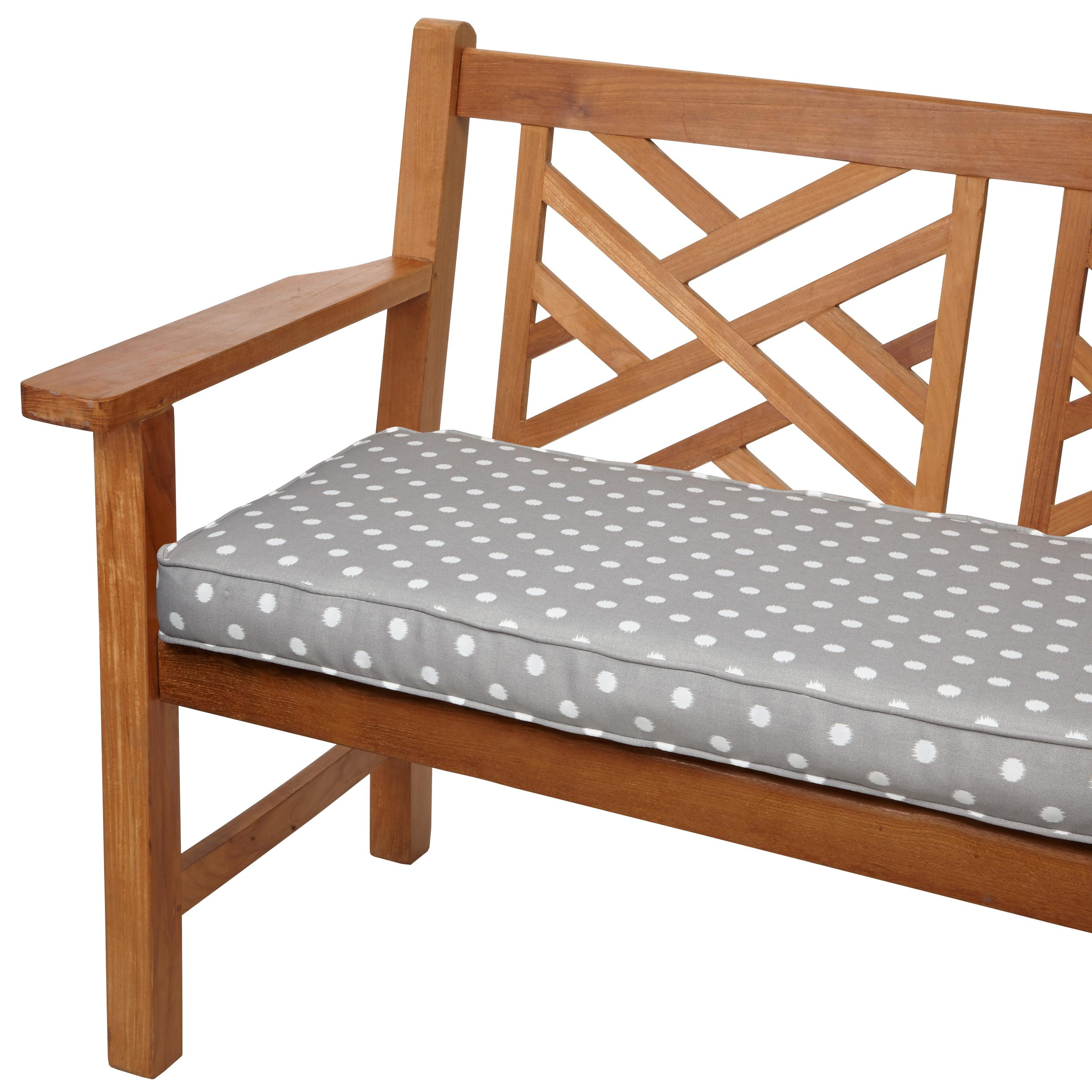 mozaic sabrina corded indoor outdoor bench cushion 60 inch grey dots garden